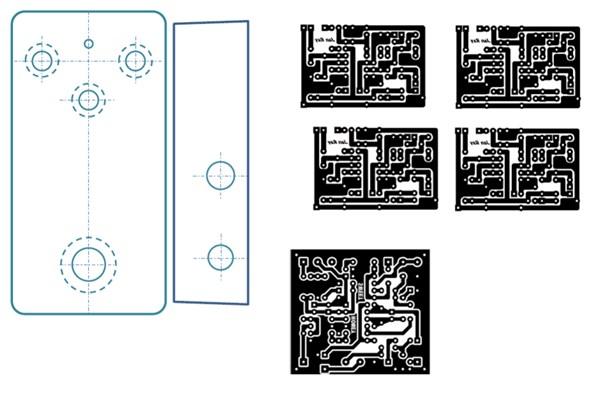 自作pcb回路図-印刷前