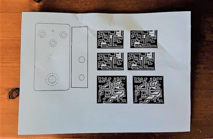 自作プリント基板用転写用紙