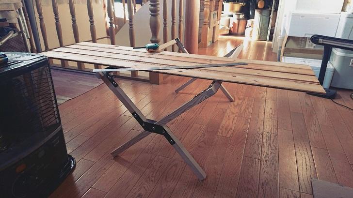 キャンプで映えるロールトップテーブル自作_01_天板