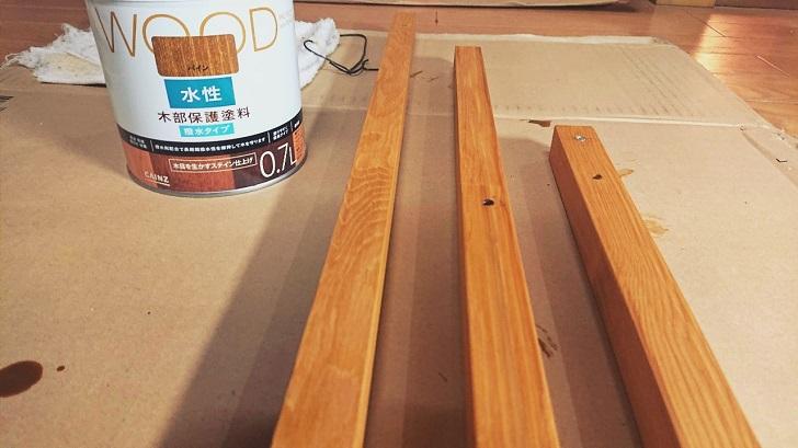 キャンプで映えるロールトップテーブル自作_02_木材塗装後01
