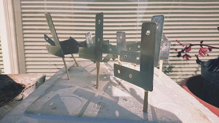 キャンプで映えるロールトップテーブル自作_08_アルミ板塗装前_